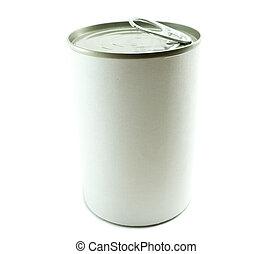 alimento, etiqueta, estaño, lata, blanco, blanco