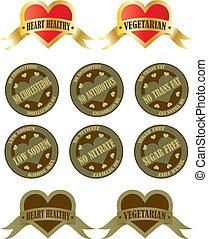 alimento, etiquetas, salud