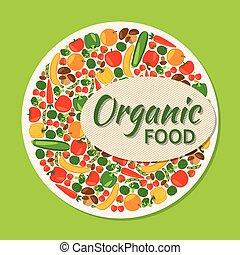alimento, experiência., vegetariano, orgânica