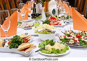 alimento, fiesta, boda, abastecimiento