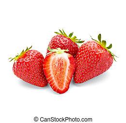 alimento, fresa, fruta