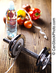 alimento, fresco, dumbbell