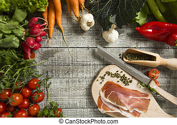 alimento, fresco, tabela