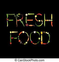 alimento, fresco, variedad