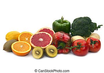 alimento, fuentes, c, vitamina