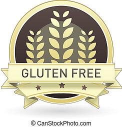 alimento, gluten, libre, etiqueta