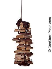 alimento, golosina de chocolate, jarabe, postre, el ...