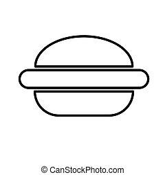 alimento, hamburguesa, hamburguesa, icon., rápido