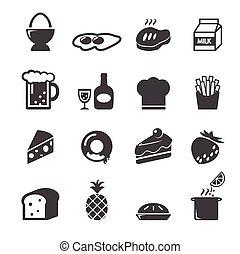 alimento, icono, 2