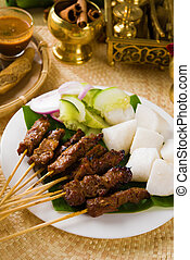 alimento, indonesio, malasia, plato, indonesia, saciar,...