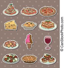 alimento, itália, adesivos
