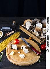 alimento italiano, espaguetis, receta, ingrediente