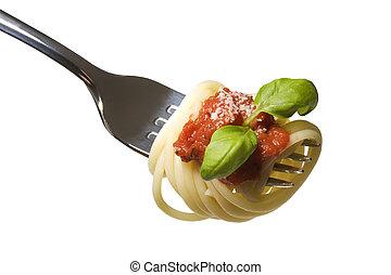 alimento italiano, espaguetis