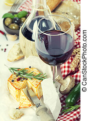 alimento, italiano, vinho