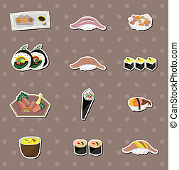 alimento, japaness, adesivos