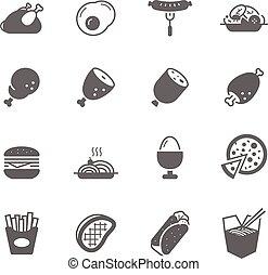 alimento, jogo, -, ícone