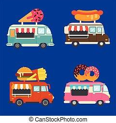 alimento, jogo, caminhão