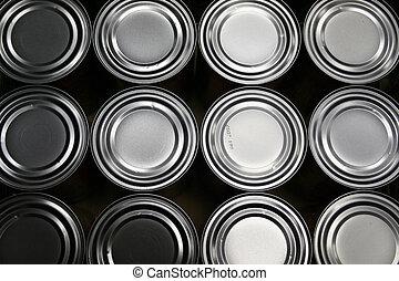 alimento, latas