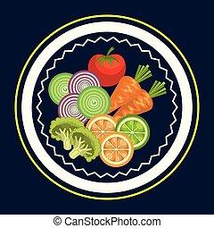 alimento, legumes, grupo, vegetariano