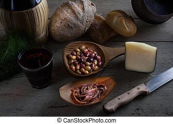 alimento, Lento, italiano