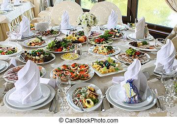 alimento, ligado, tabela