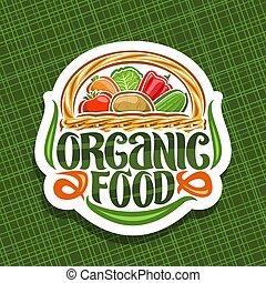 alimento, logotipo, vetorial, orgânica