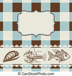 alimento mar, menu