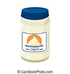 alimento, mayonesa, salsa