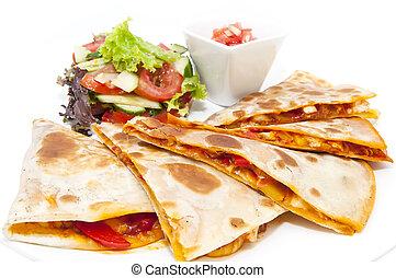 alimento mexicano, platos, en, el, restaura