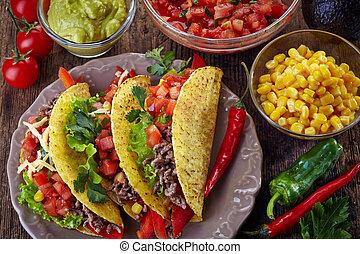alimento mexicano, tacos