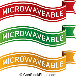 alimento, microwaveable, etiqueta
