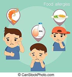 alimento, niño, alergias