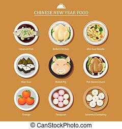 alimento, novo, chinês, ano