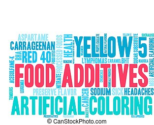 alimento, nube, additives, palabra