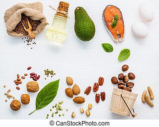 alimento, omega 3, fuentes, selección