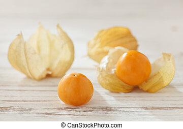alimento orgánico, cereza, physalis, fruta, vegetabl,...