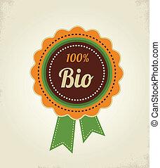alimento orgánico, etiqueta, etiqueta, y, graphi, elemento