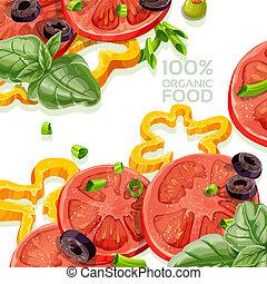 alimento, orgânica, fundo