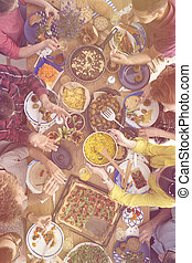 alimento, orgânica, variedade