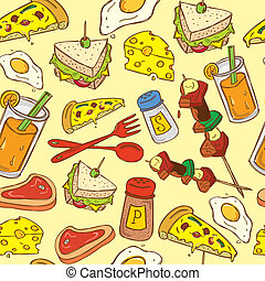 alimento, padrão, fundo