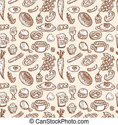 alimento, padrão, seamless