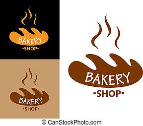 alimento, panificadora, símbolo, pão