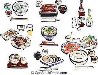 alimento, parte, 2, japoneses