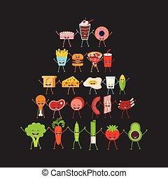 alimento, personagem, desenho