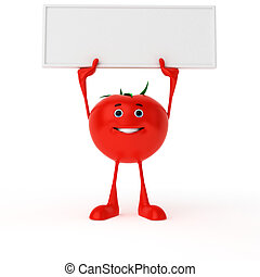 alimento, personagem, -, tomate