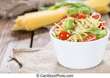 alimento,  pesto), italiano,  (spaghetti