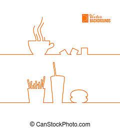 alimento, rápido, design.