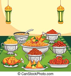 alimento, ramadan, iftar