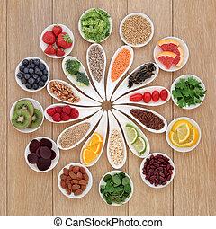 alimento, roda, saúde