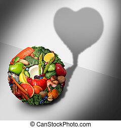 alimento, saúde coração